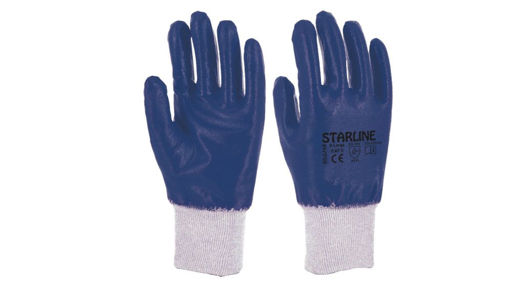 STL LFKB Blue Nitrile Gloves