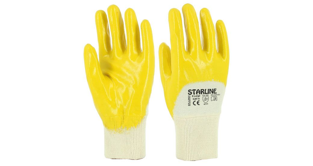 STL LPKY Yellow Nitrile Gloves