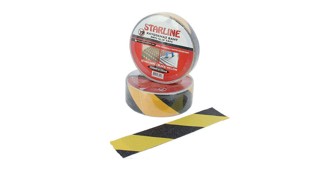Slip Tape yellow  Black